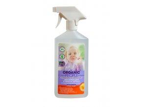 Organic People- Eco čistiaci sprej na okná a zrkadlá s organickým výťažkom z citróna a pomaranča- 500ml