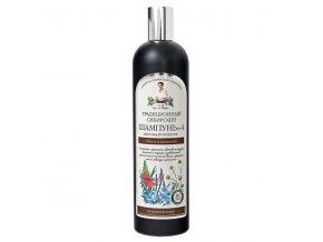 Babička Agafa - Tradičný sibírsky balzam na vlasy na báze kvetového propolisu – pre objem a krásu vlasov - 550 ml