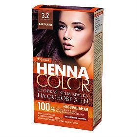 Krémová farba na vlasy Henna color 3.2 - BAKLAŽÁN - Fitokosmetik - 115ml