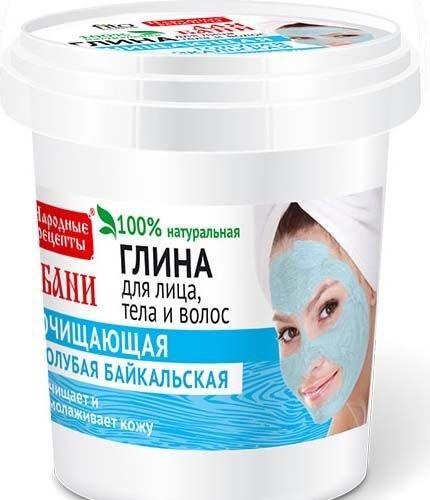 Modrý bajkalský íl– na tvár telo a vlasy - Fitokosmetik - 155 ml