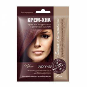 Krémová henna na vlasy s lopúchovým olejom odtieň BURGUND - Fitokosmetik - 50 ml