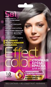 Effect Color - Dlhotrvajúca krémova farba na vlasy, čierna - Fitokosmetik - 50ml