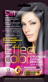 Effect Color - Dlhotrvajúca krémova farba na vlasy, modro-čierna - Fitokosmetik - 50 ml