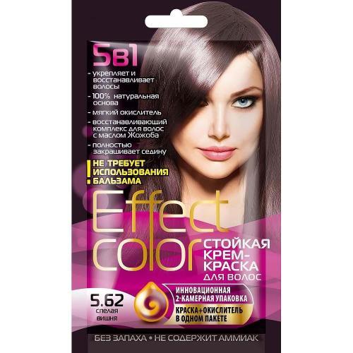 Effect Color - Dlhotrvajúca krémova farba na vlasy, zrelá čerešňa - Fitokosmetik - 50 ml