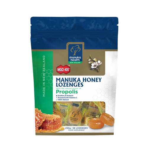 Manuka Health Cukríky Manuka MGO™400+ s propolisom, 250g