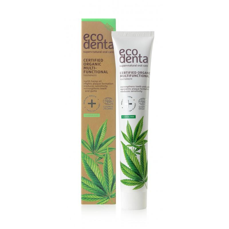 Zubná pasta s konopným olejom - Ecodenta - 75 ml