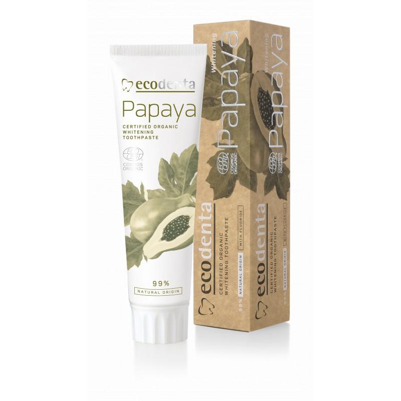 Bieliaca zubná pasta s fluoridom - Ecodenta - 100ml