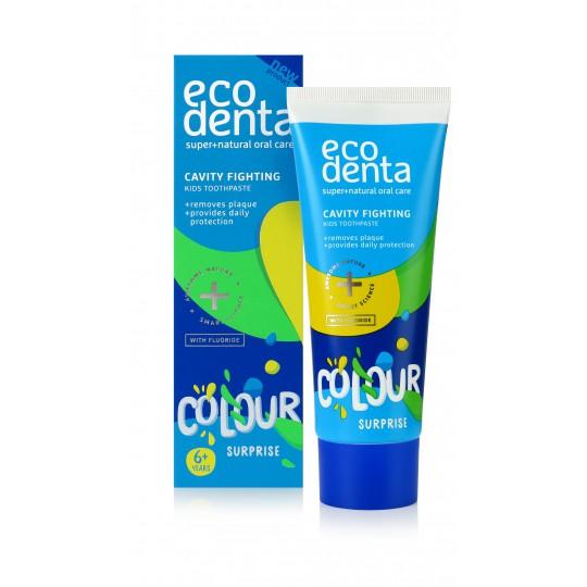 Zubná pasta pre deti, ochrana pred zubným kazom - Ecodenta - 75 ml