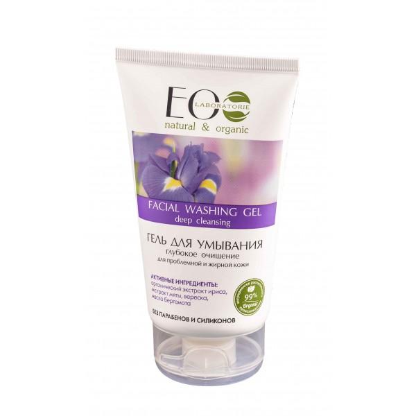 Gél na umývanie tváre, hĺbkové čistenie na problémovú a mastnú pokožku - EOLab - 150ml