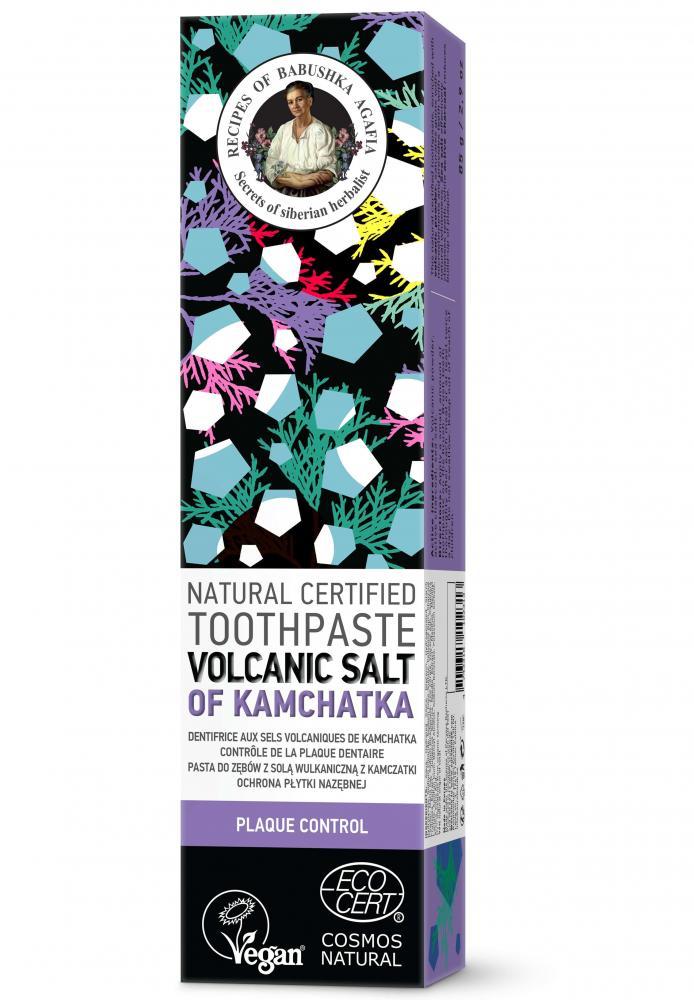 Prírodná zubná pasta so sopečnou soľou z Kamčatky pre žiarivé a biele zuby - Babička Agafia - 85 g