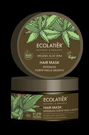 Maska na vlasy Aloe vera - posliňuje a podporuje rast vlasov - EcoLatier Organic - 250ml