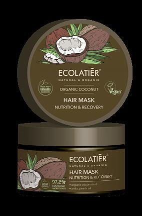 Maska na vlasy Kokos - vyživuje a regeneruje vlasy - EcoLatier Organic - 250ml