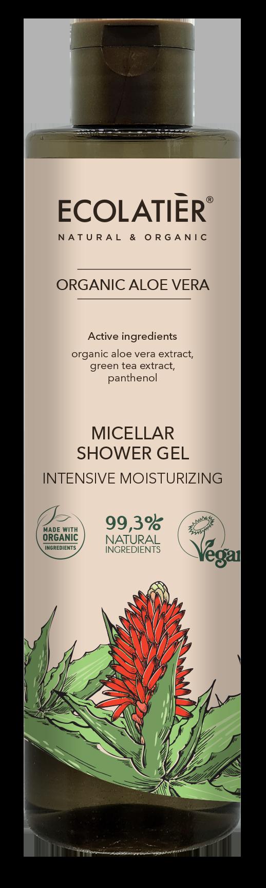 Micelárny sprchový gél Aloe vera - hydratačný - EcoLatier Organic - 350 ml