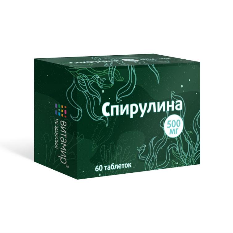 Healt Spirulina 500 mg - výživový doplnok - 60 tabliet