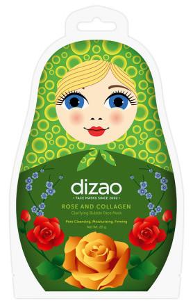 Pleťová penivá čistiaca maska s extraktom z ruží a kolagénom - Dizao - 25 g
