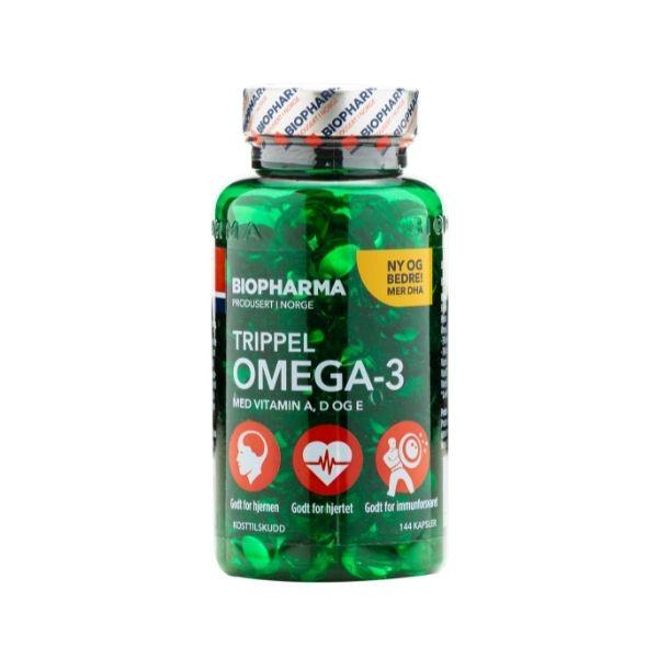 Trippel Omega 3 - Biopharma - 144 kapsúl