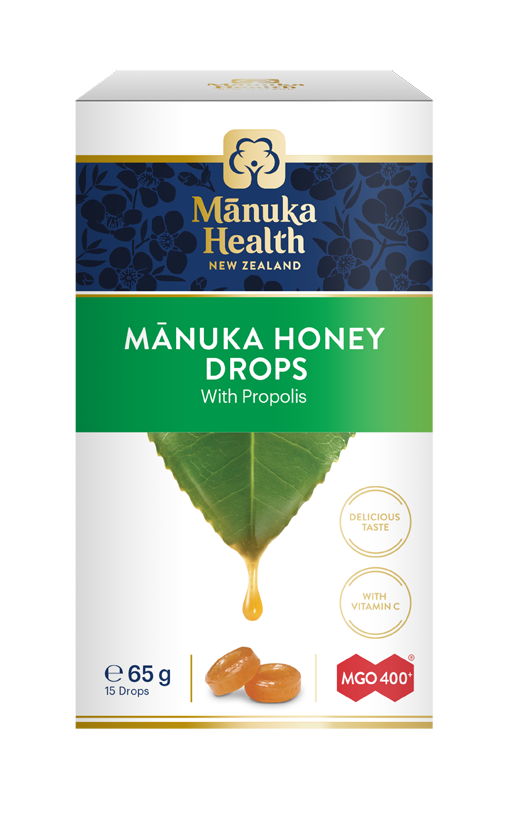 Manuka Health Cukríky s Manuka medom MGO™ 400+ propolis, 65g
