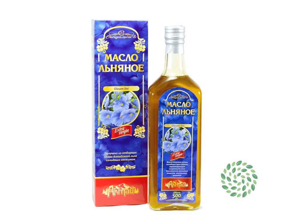 100% ľanový olej, za studena lisovaný, panenský - Specialist Objem: 500 ml