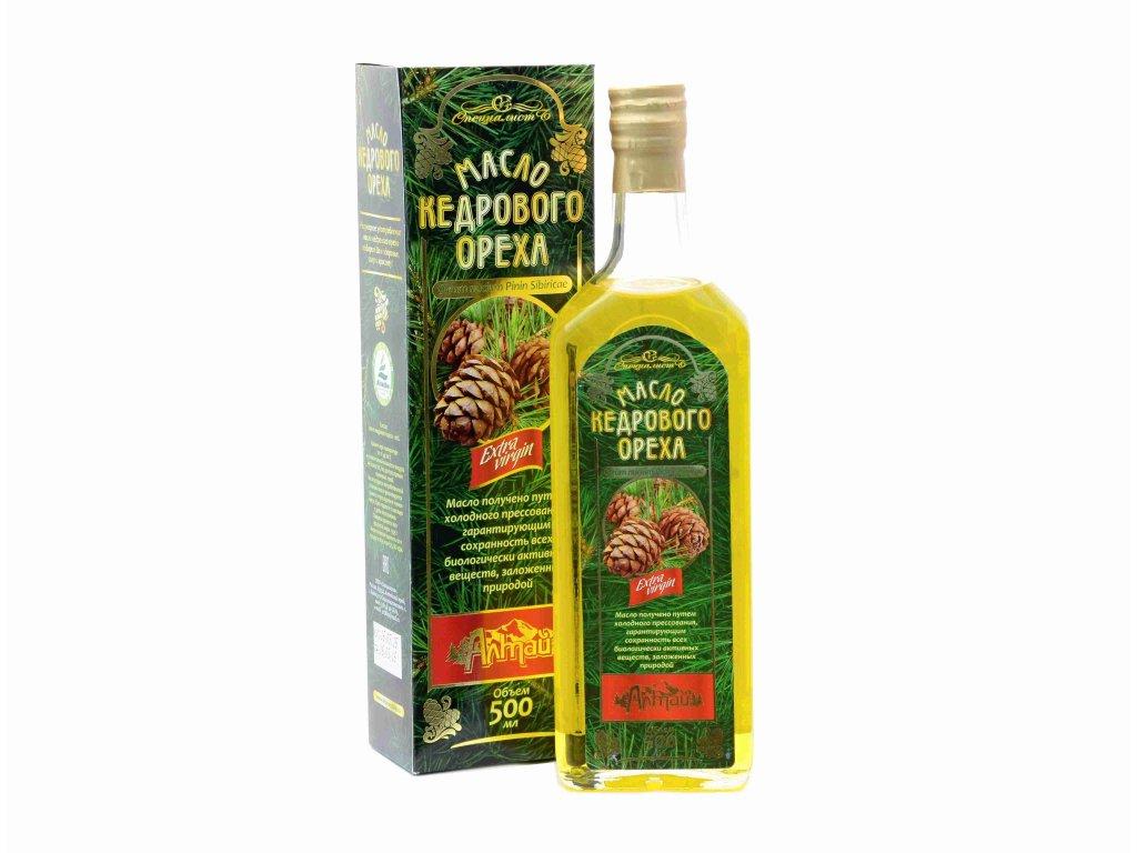 100% Cédrový olej Altajský, za studena lisovaný, panenský - Specialist Objem: 500 ml