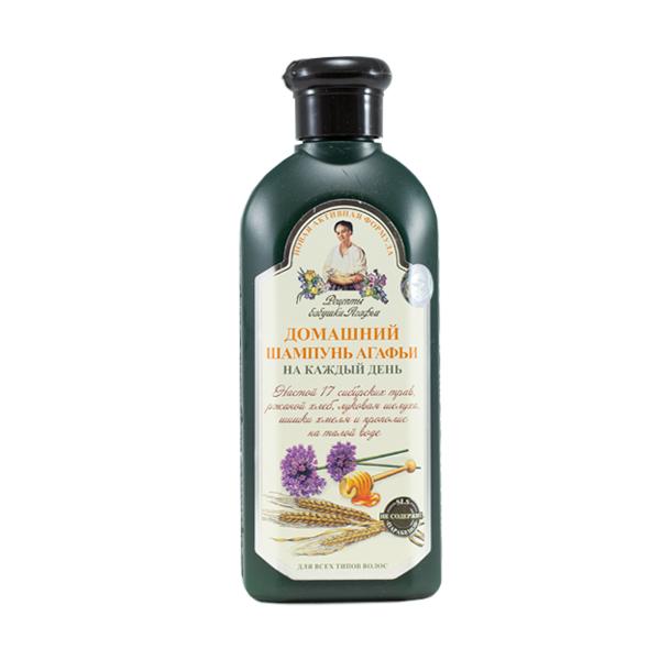 Domáci šampón na každodenné použitie pre všetky typy vlasov - spevňujúci - Babička Agafia 350 ml