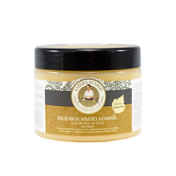 Medové mydlo Agafii na vlasy a telo - Babička Agafia - 300 ml