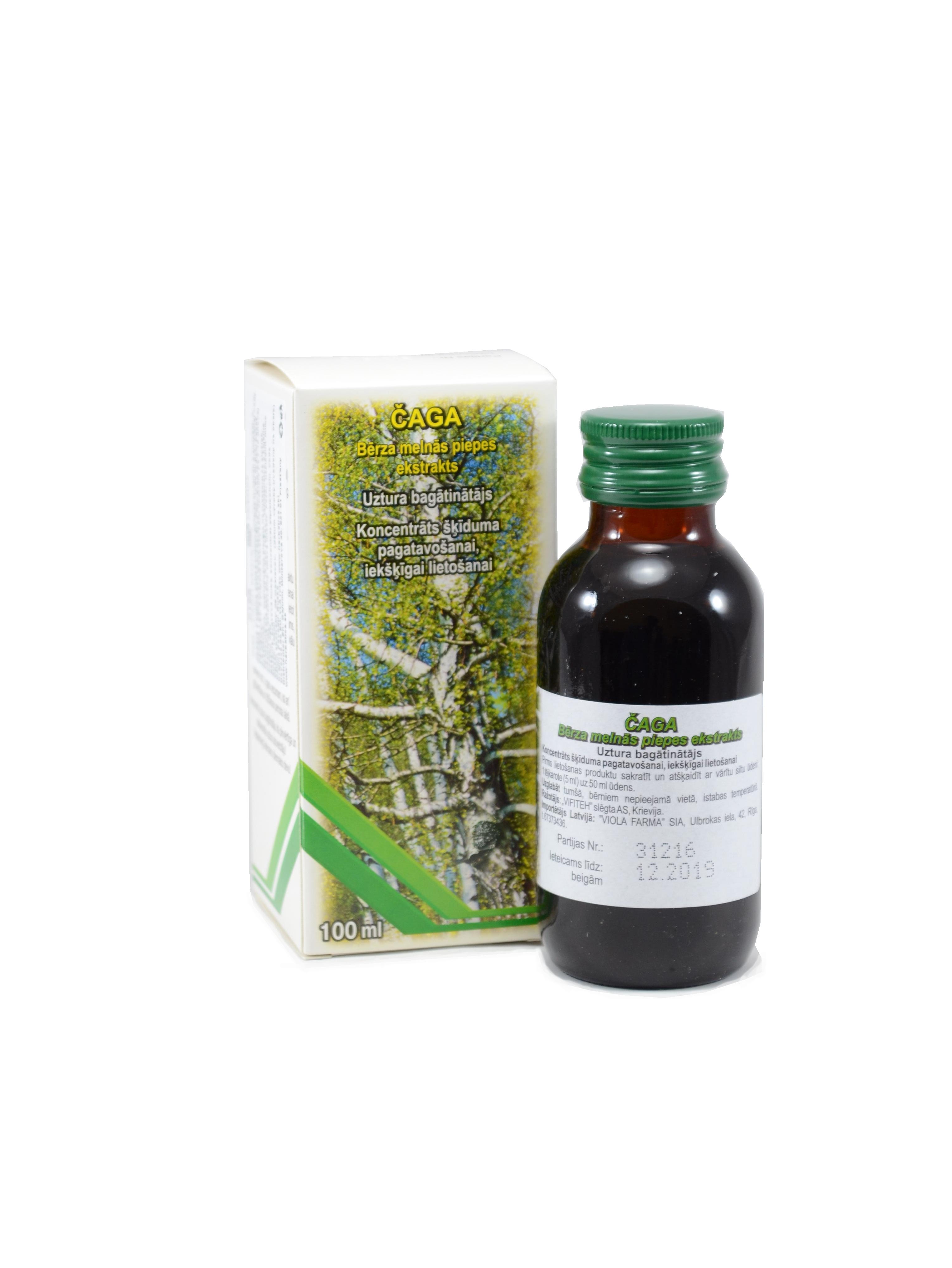 Čaga extrakt z brezovej huby pre správnu látkovú výmenu - Vifiteh - 100 ml