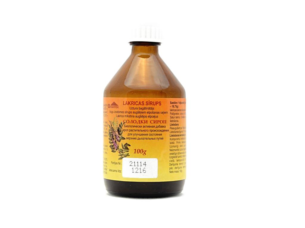 Sirup zo sladkého drievka proti zachrípnutiu a kašlu - Vifiteh - 100 g