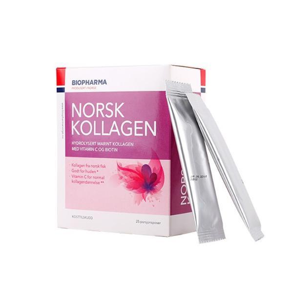 Biopharma - Norsk Kollagen - hydrolyzovaný morský kolagén s vitamínom C a biotinom - 25x5 g