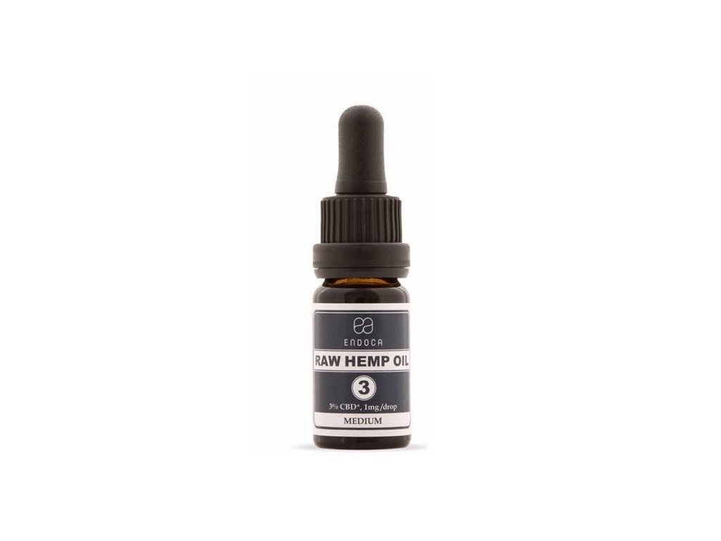 RAW Konopný Olej, 300 mg CBD+CBDa, (3%), 10 ml