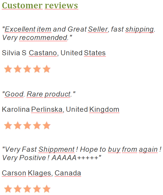 Customer reviews (rating of customers)