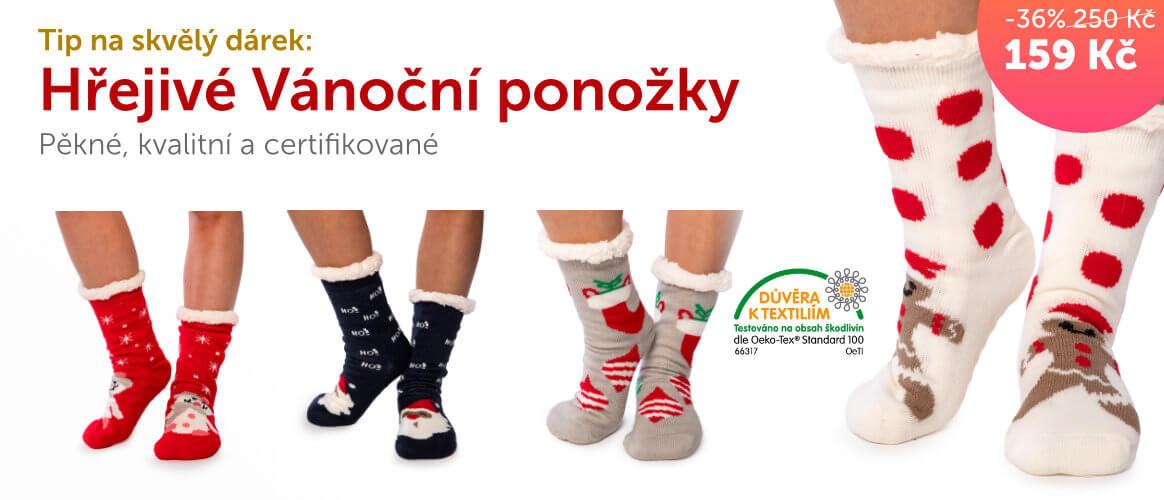 Hřejivé Vánoční ponožky