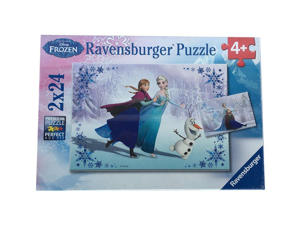 Puzzle Ledové království 2x24 - VÝPRODEJ