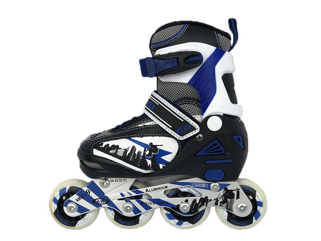 Dětské kolečkové brusle sportwell - Modré