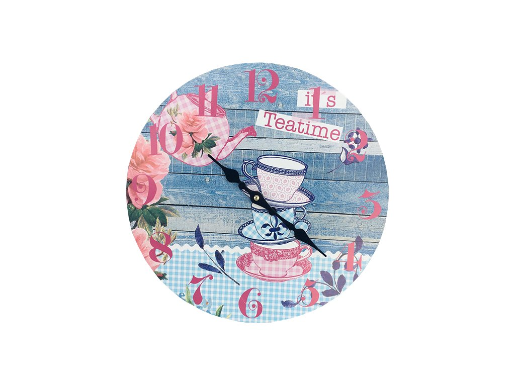 Hodiny retro PN01 motiv Tea time