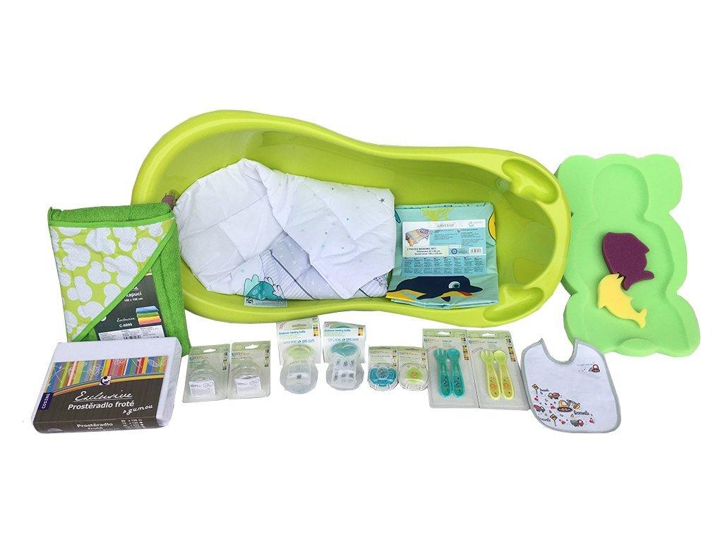 COSING Startovací sada pro novorozence 13-dílná - zelená