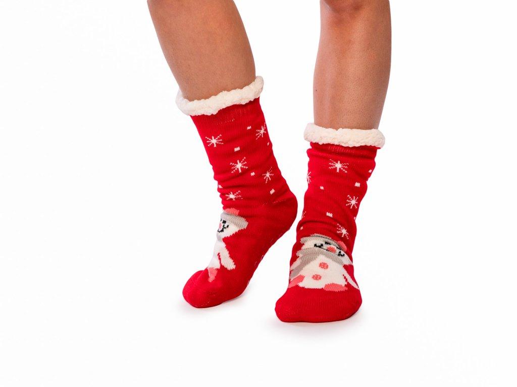 Vánoční ponožky s beránkem Sněhulák