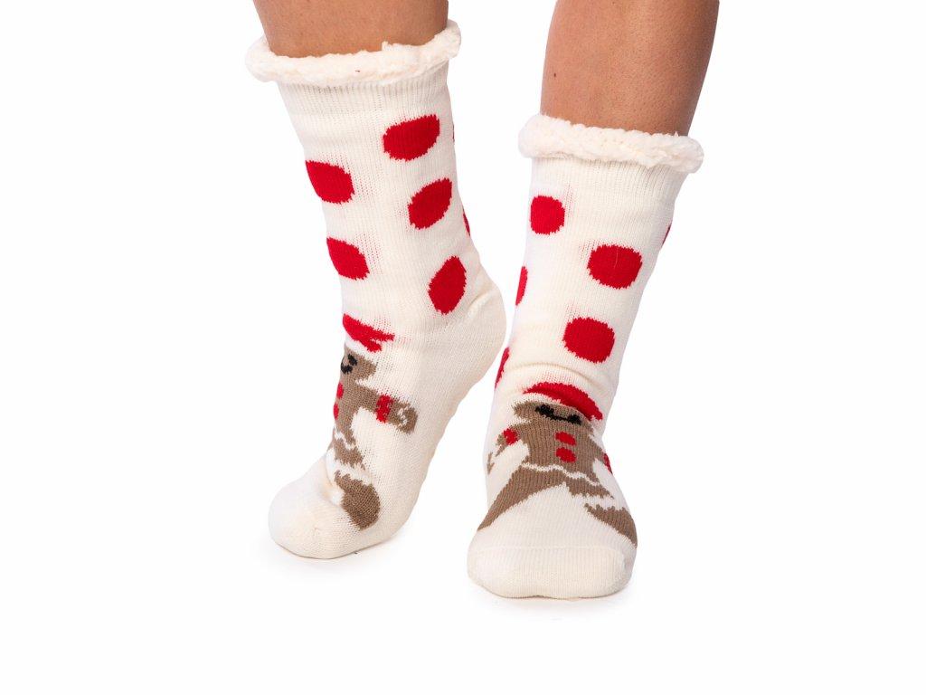 Vánoční ponožky s beránkem Panáček