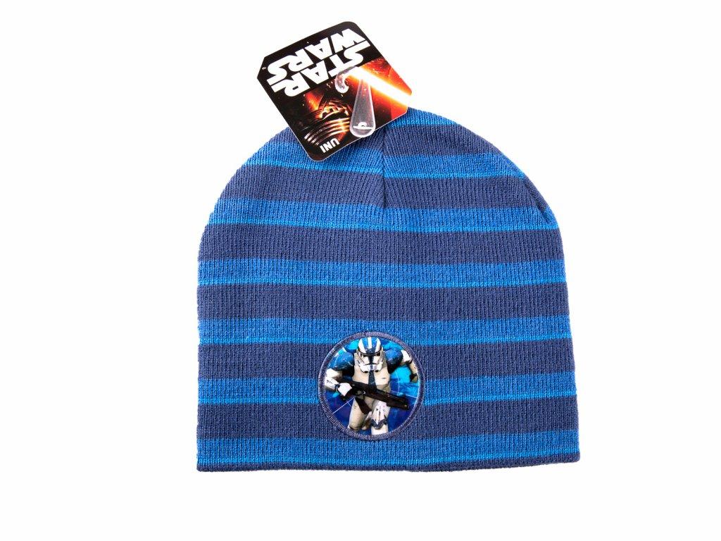 Star Wars čepice chlapecká modrá