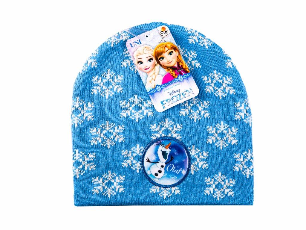 Frozen dětská čepice modrá