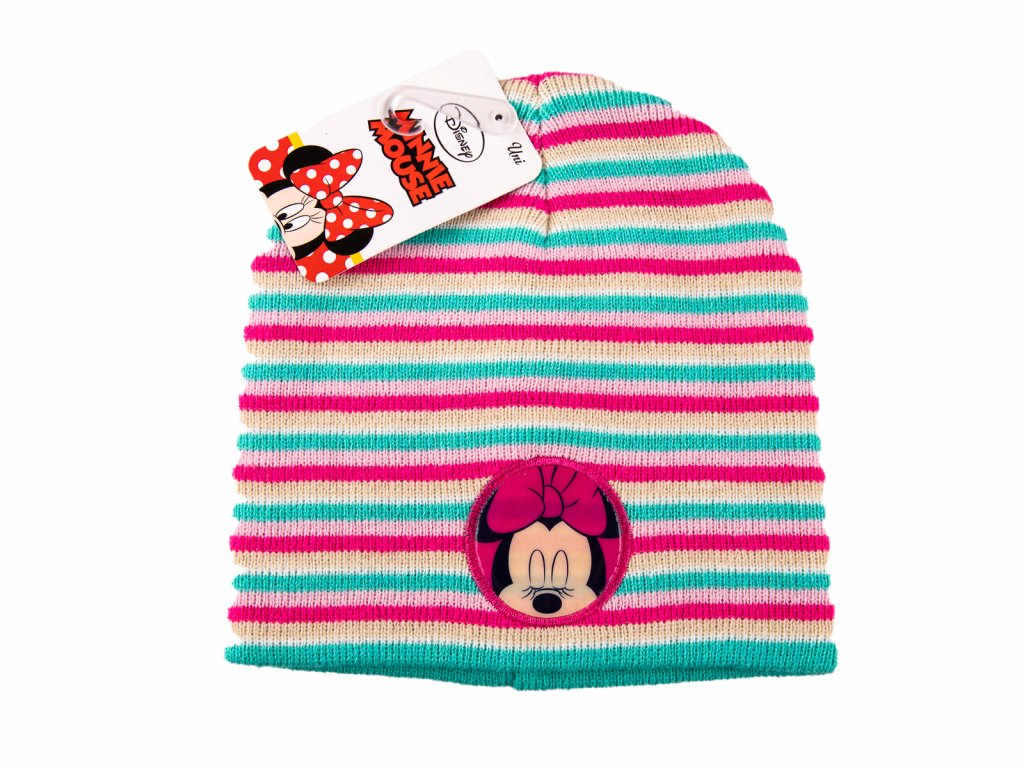 Minnie Mouse čepice pruhovaná
