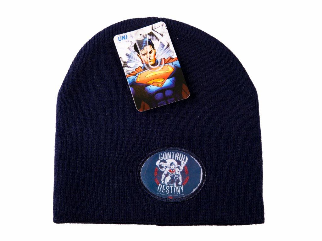 Superman čepice modrá