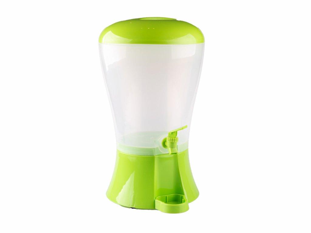 Nápojový dávkovač se zásobníkem na led 10l zelený