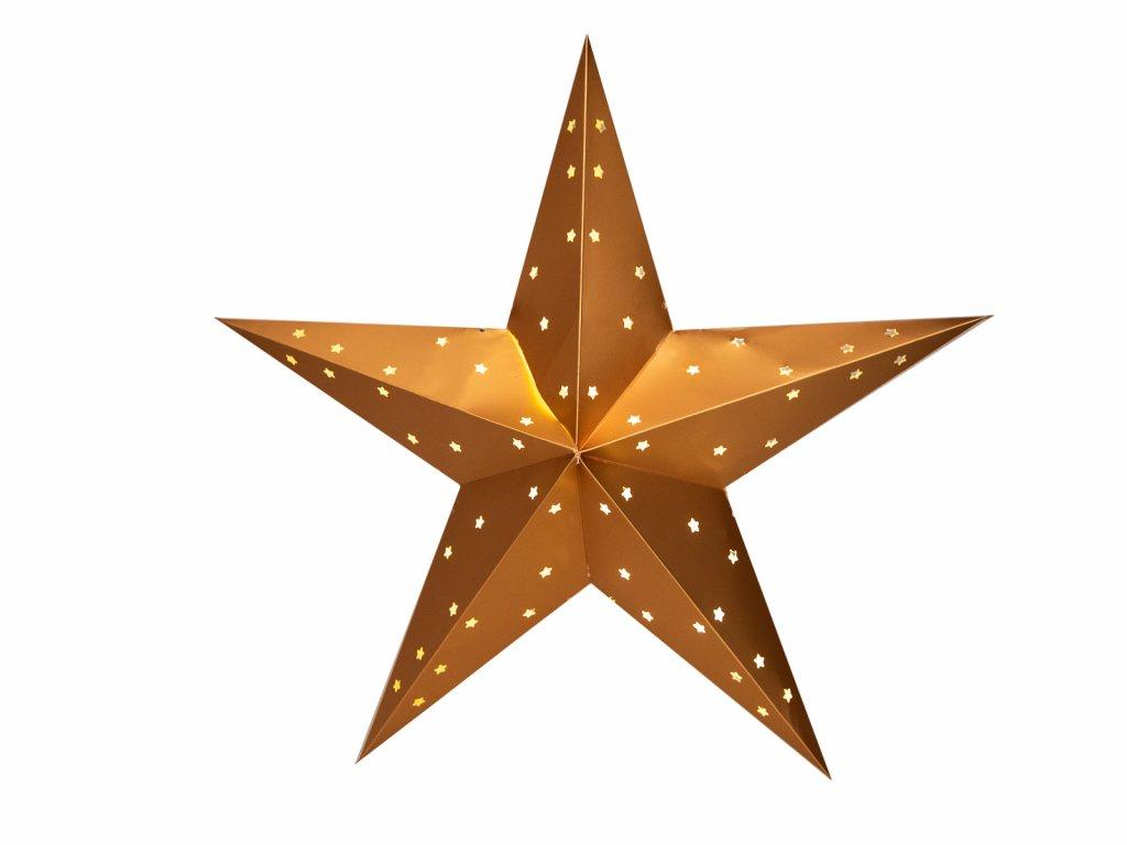 Vánoční hvězda papírová 60 cm 10Led teplé světlo