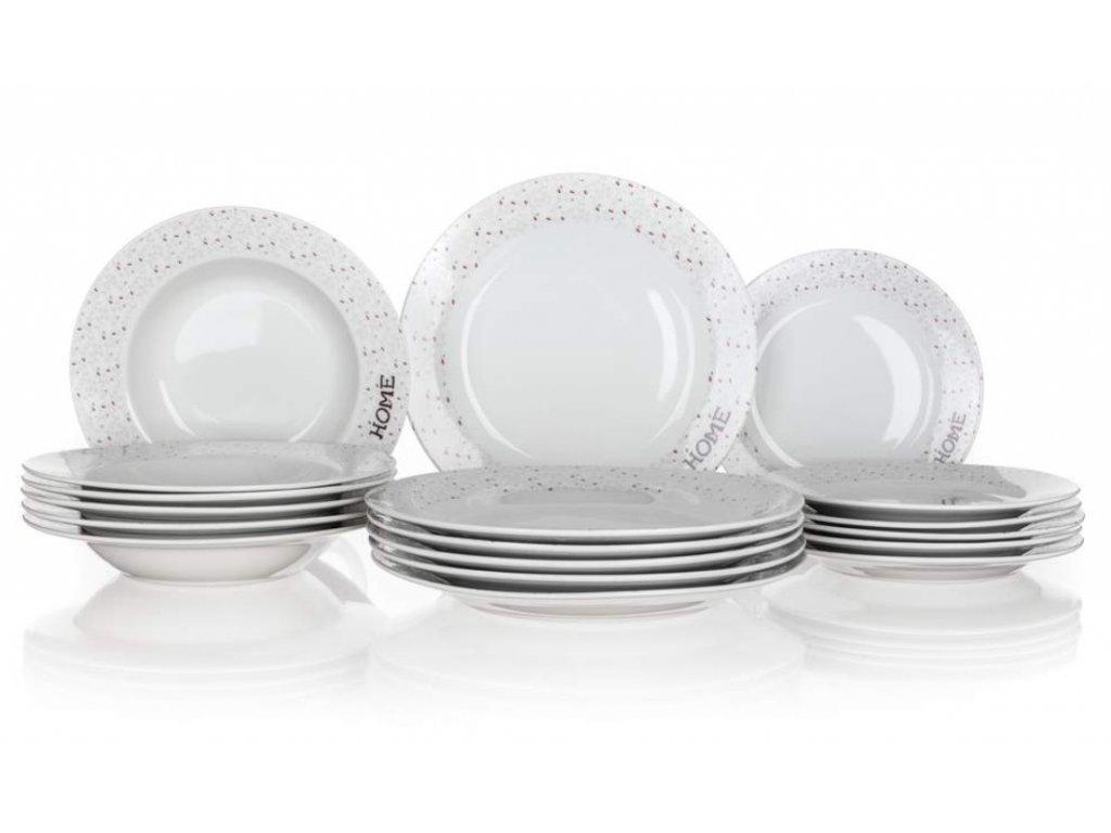 Talířová sada Banquet Sada talířů HOME Coll. II, 18 ks