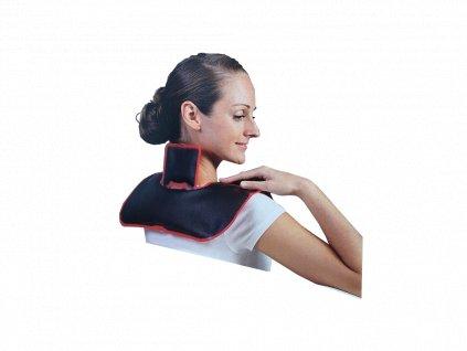Hřejivý polštář na ramena a krk plněný slatinovým gelem