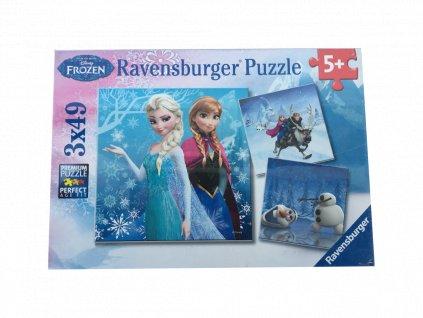 Puzzle Ledové království 3x49