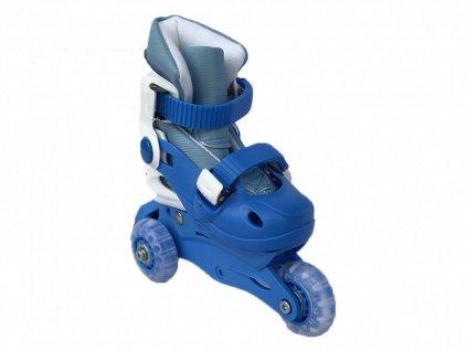 Dětské kolečkové brusle sportwell trek/inline Modré