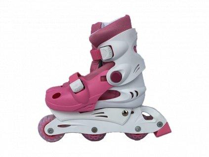 Dětské kolečkové brusle sportwell trek/inline Růžové