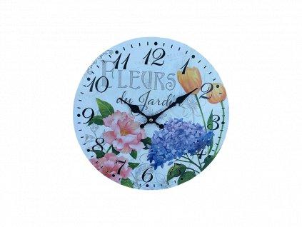 Hodiny retro PN01 motiv květiny