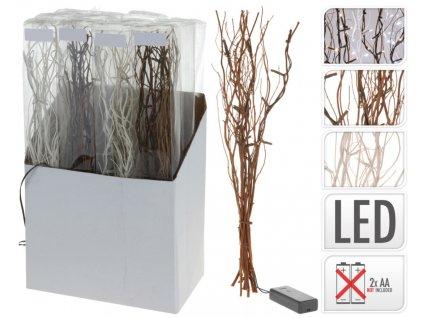 Větvičky vrbové svítící bílé 40 cm - AXF100000